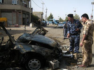 At least 22 people have died and dozens have been wounded in the latest wave of insurgent attacks in Iraq aimed at undermining the government's authority. (Aug. 16)