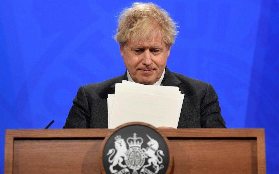 Boris Johnson said he saw no reason to deviate from the 'cautious but irreversible' roadmap
