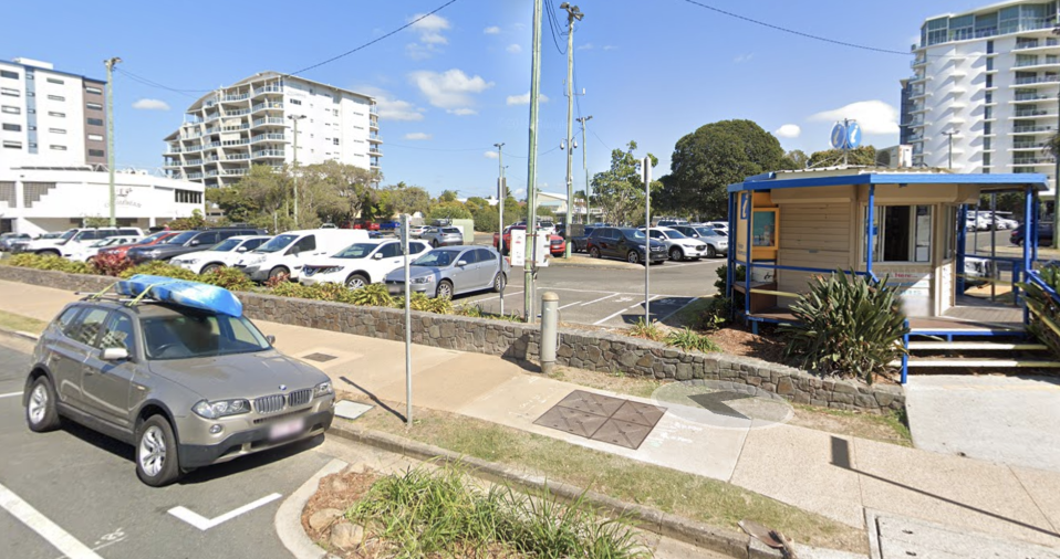 A generic view of a carpark in Mooloolaba.