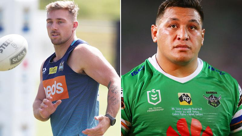 Pictured here, Bryce Cartwright and Josh Papalii are both opposed to having the flu shot.