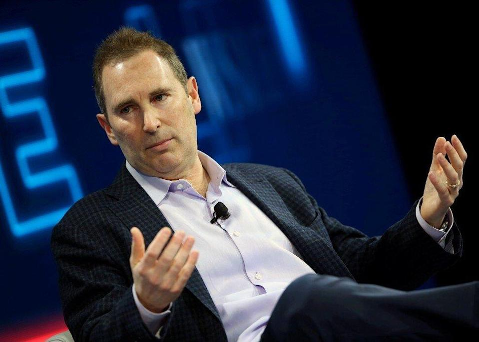 Andy Jassy, the long-time chief executive at Amazon Web Services, speaks at the WSJD Live conference in Laguna Beach, California, in 2016. Photo: Reuters