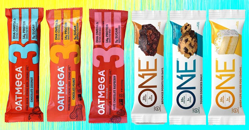 One and Oatmega protein bars will give you a healthy energy boost. (Photo: Amazon)