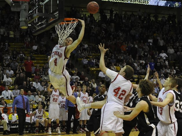 Chaparral senior Josh Adams' state title-winning tip in — Josh Leyba/Denver Post