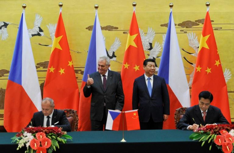 Zeman met Chinese President Xi Jinping in Beijing a year after taking up the top job, in a trip seen as an indication of his foreign policy preferences