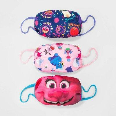 """<p><strong>Trolls</strong></p><p>target.com</p><p><strong>$10.00</strong></p><p><a href=""""https://www.target.com/p/kids-39-3pk-trolls-face-mask/-/A-80170433"""" rel=""""nofollow noopener"""" target=""""_blank"""" data-ylk=""""slk:Shop Now"""" class=""""link rapid-noclick-resp"""">Shop Now</a></p><p>Your kids might even like wearing a mask to school if they can channel their inner Poppy. </p>"""
