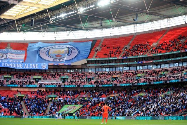Two thousand Manchester City fans attended the Carabao Cup final on April 25