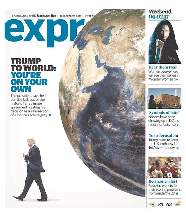 "<p>""Express,"" published in Washington, D.C. (Newseum) </p>"