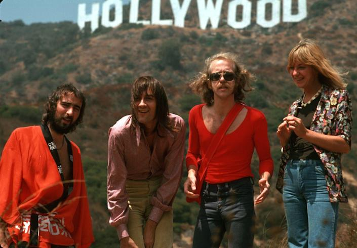 <p>We're thinking everyone started taking their photos here after seeing just how cool Fleetwood Mac looked posing near the Hollywood sign. </p>