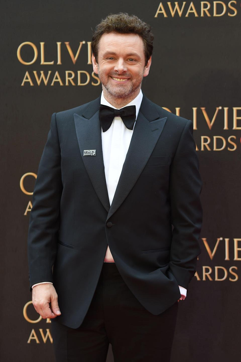 Michael Sheen attends the Olivier Awards in London in 2018.