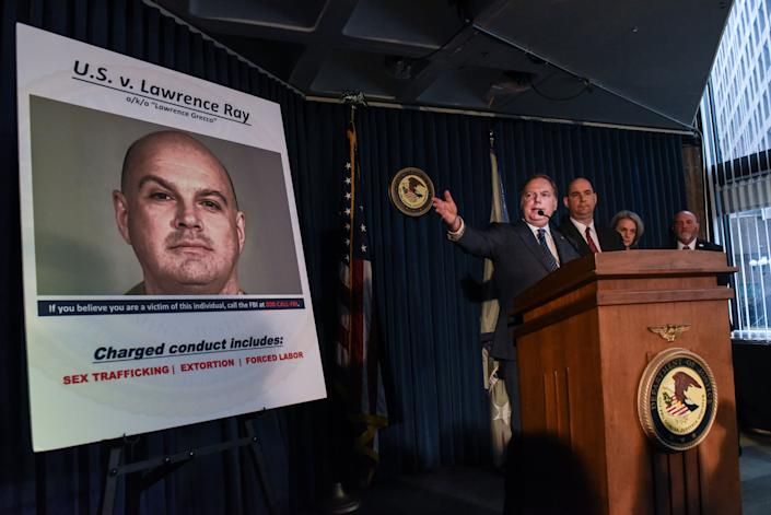 U.S. Attorney for the Southern District of New York Geoffrey Berman announces charges against Lawrence Ray on Tuesday in New York. (Photo: Stephanie Keith via Getty Images)