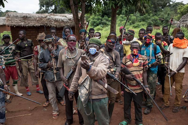 The Central African Republic fell into crisis in 2012 as violence erupted from a mainly Muslim rebel insurgency known as the Selaka that sparked the creation of rival Christian militias known as the anti-Balaka, seen here