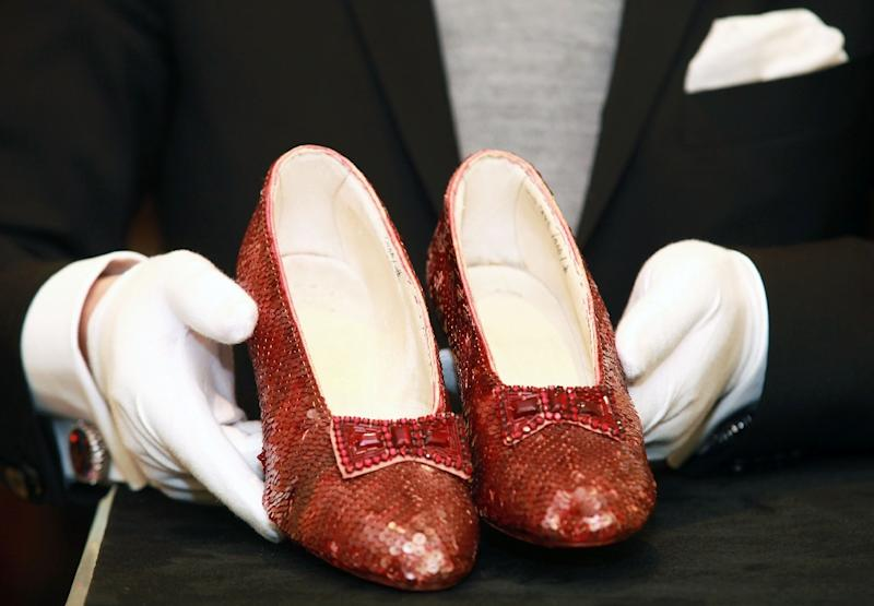 """The Wizard of Oz"" ruby red slippers became one of the film's most iconic props, on near-constant display at the museum since they were anonymously donated in 1979"