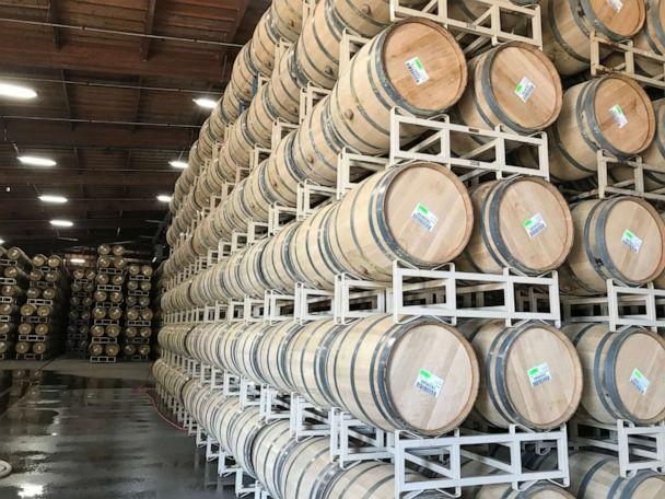 With the 'crush' season over, wineries all over California are now making their wines. (Alex Stone/ABC)