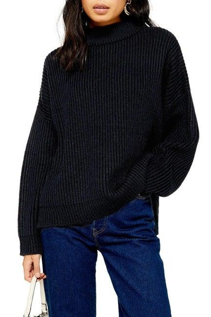 """<h3><a href=""""https://www.nordstromrack.com/shop/product/3148737/topshop-mock-neck-sweater"""" rel=""""nofollow noopener"""" target=""""_blank"""" data-ylk=""""slk:Topshop Mock Neck Sweater"""" class=""""link rapid-noclick-resp"""">Topshop Mock Neck Sweater</a><br></h3><br>This top-shopped (pun intended) slouchy sweater was a breakout product star during our flash coverage of <a href=""""https://refinery29.com/en-us/2020/02/9415312/nordstrom-clear-the-rack-sale-2020"""" rel=""""nofollow noopener"""" target=""""_blank"""" data-ylk=""""slk:Nordstrom Rack's President's Day weekend blowout"""" class=""""link rapid-noclick-resp"""">Nordstrom Rack's President's Day weekend blowout</a> — and it's still on sale! We're imagining hoards of R29 readers sporting it in snug-but-chic winter style, paired with wide-leg jeans or a satiny midi skirt and combat boots.<br><br><strong>Topshop</strong> Mock Neck Sweater, $, available at <a href=""""https://www.nordstromrack.com/shop/product/3148737/topshop-mock-neck-sweater"""" rel=""""nofollow noopener"""" target=""""_blank"""" data-ylk=""""slk:Nordstrom Rack"""" class=""""link rapid-noclick-resp"""">Nordstrom Rack</a>"""