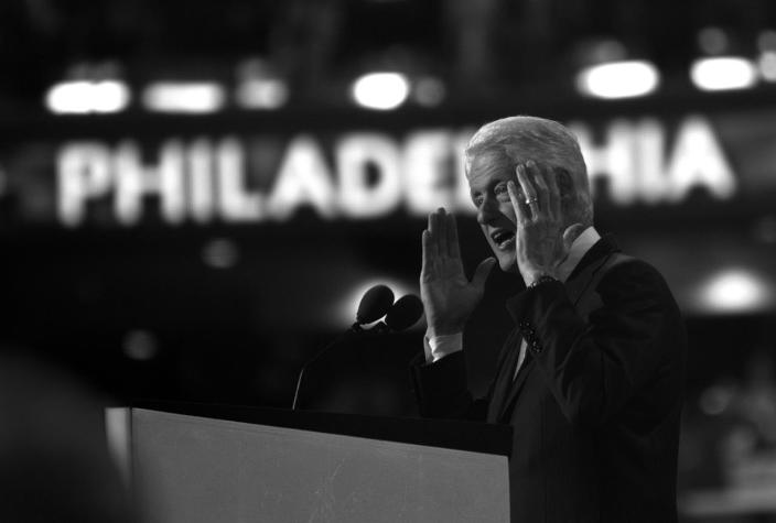 <p>Former President William Jefferson Clinton speaks at the Democratic National Convention Tuesday, July 26, 2016, in Philadelphia, PA. (Photo: Khue Bui for Yahoo News) </p>