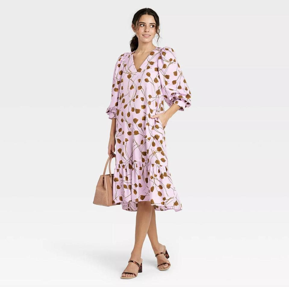 <p>The <span>A New Day Ruffle Hem Dress</span> ($28) has a flowy silhouette that is perfect for all-day wear.</p>