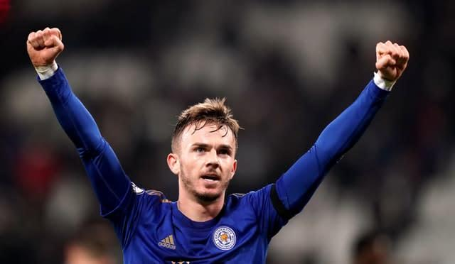 Leicester City's James Maddison is reportedly being eyed by Manchester United (John Walton/PA)
