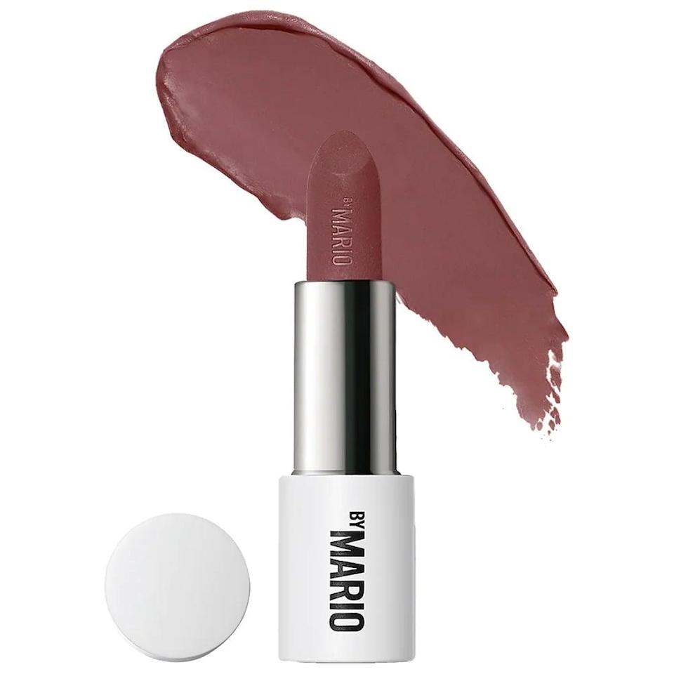 """<p>The <span>Makeup By Mario Ultra Suede Lipstick</span> ($24) is a matte lipstick that's actually weightless and not drying. It comes in a variety of 20 shades, including reds, pinks, and browns. The long-wearing lipstick is even an <a href=""""https://www.popsugar.com/beauty/makeup-by-mario-ultra-suede-lipstick-review-48533655"""" class=""""link rapid-noclick-resp"""" rel=""""nofollow noopener"""" target=""""_blank"""" data-ylk=""""slk:editor-favorite"""">editor-favorite</a>.</p>"""