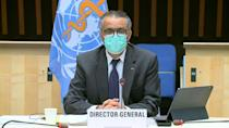 """WHO Director-General, Tedros Adhanom Ghebreyesus, warns during an executive board meeting that a vaccine against Covid-19 """"on its own will not end the pandemic"""""""