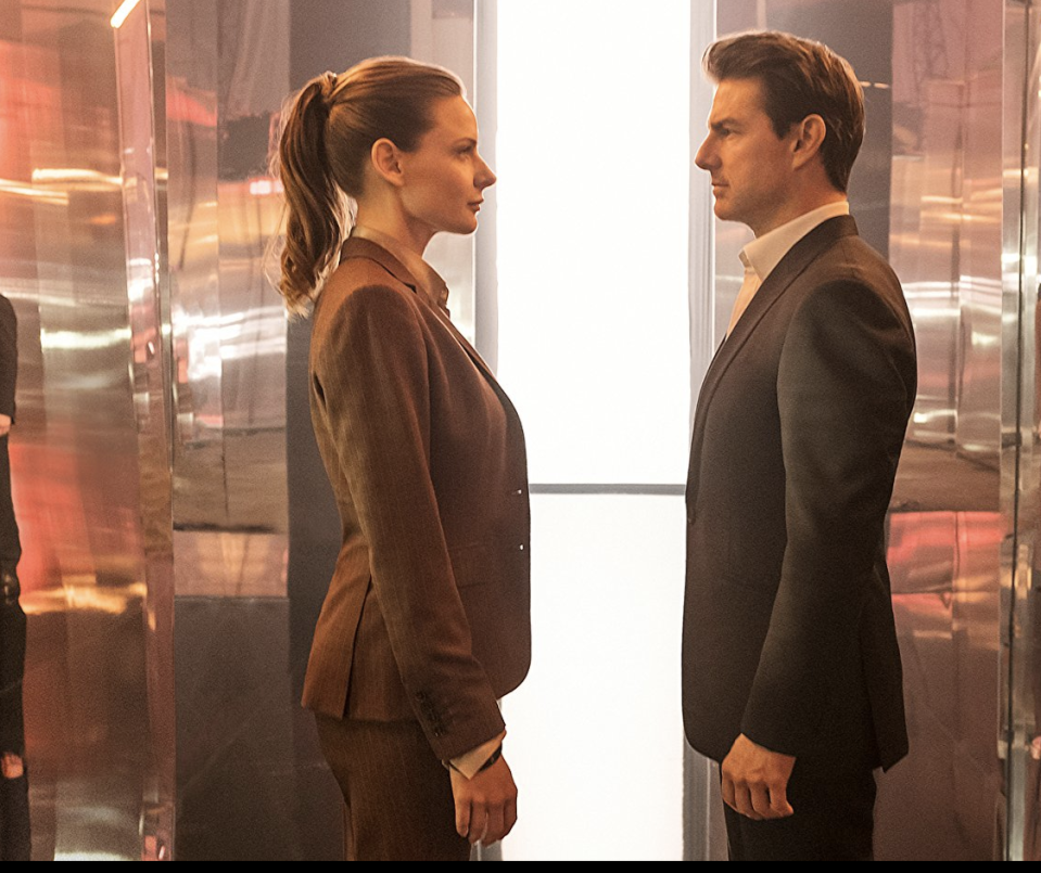 """<p>The dynamic <em>Rogue Nation </em>duo of director Christopher McQuarrie and star Tom Cruise re-team for the sixth installment in the <em>M:I </em>franchise and bring <a rel=""""nofollow"""" href=""""https://www.yahoo.com/entertainment/henry-cavill-mourns-controversial-mustache-hilarious-instagram-tribute-152550152.html"""" data-ylk=""""slk:Henry Cavill and his famous mustache;outcm:mb_qualified_link;_E:mb_qualified_link;ct:story;"""" class=""""link rapid-noclick-resp yahoo-link"""">Henry Cavill and his famous mustache</a> along for the ride. The list of Cruise's crazy stunts this time include dangling from a helicopter, motorcycle racing through Paris, and <a rel=""""nofollow"""" href=""""https://www.yahoo.com/entertainment/tom-cruise-apos-apos-mission-181500053.html"""" data-ylk=""""slk:making some ankle-breaking rooftop-to-rooftop leaps;outcm:mb_qualified_link;_E:mb_qualified_link;ct:story;"""" class=""""link rapid-noclick-resp yahoo-link"""">making some ankle-breaking rooftop-to-rooftop leaps</a>. 