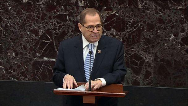 PHOTO: Democratic House Manager Rep. Jerry Nadler speaks during the impeachment trial of President Donald Trump, Jan. 22, 2020, at the Capitol. (ABC News)