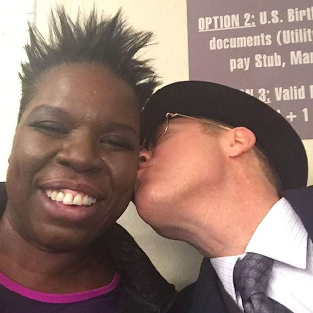"<p>With a simple caption — ""I'm dying!"" — Jones relays what it's like to get a smooch from James Spader. Of course, her expression says everything. Looks like she, too, will forever remember Spader as hot jerk Steff from <em>Pretty in Pink</em>. Sigh… (Photo: <a href=""https://www.instagram.com/p/BAsC-8wMjir/?hl=en&taken-by=lesdogggg"" rel=""nofollow noopener"" target=""_blank"" data-ylk=""slk:Leslie Jones via Instagram"" class=""link rapid-noclick-resp"">Leslie Jones via Instagram</a>) </p>"