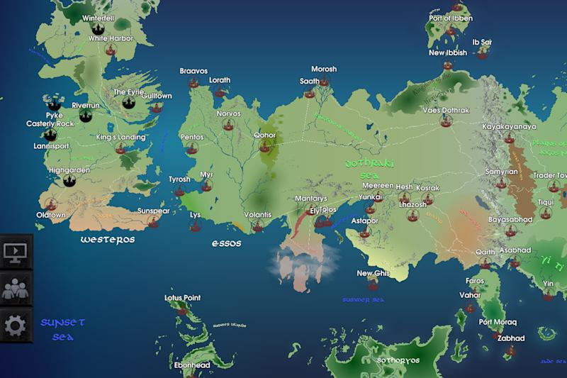 Your Favorite Game Of Thrones Character On This Interactive Map Of - Interactive us map game