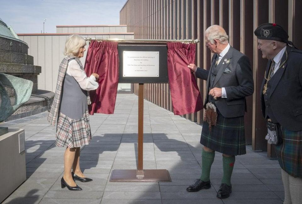 The couple unveiled a plaque at the official opening (Jane Barlow/PA) (PA Wire)