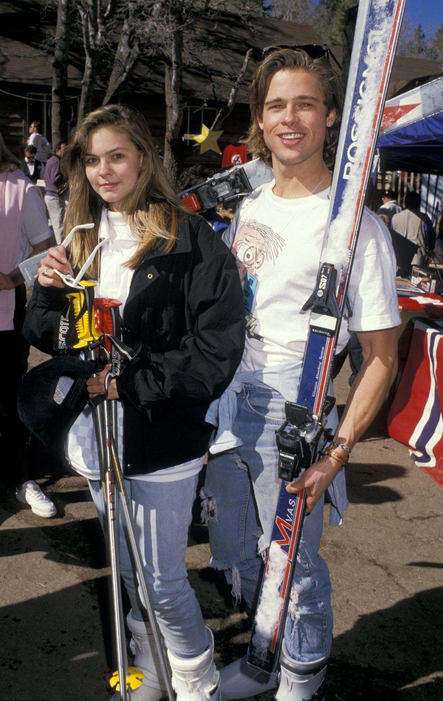 <p>Pitt started dating Shalane McCall soon after moving to LA and is believed to have met McCall on the set of <em>Dallas. </em>It was his second-ever credited role and he played McCall's character's boyfriend, Randy, in a four-episode arc.<br></p>
