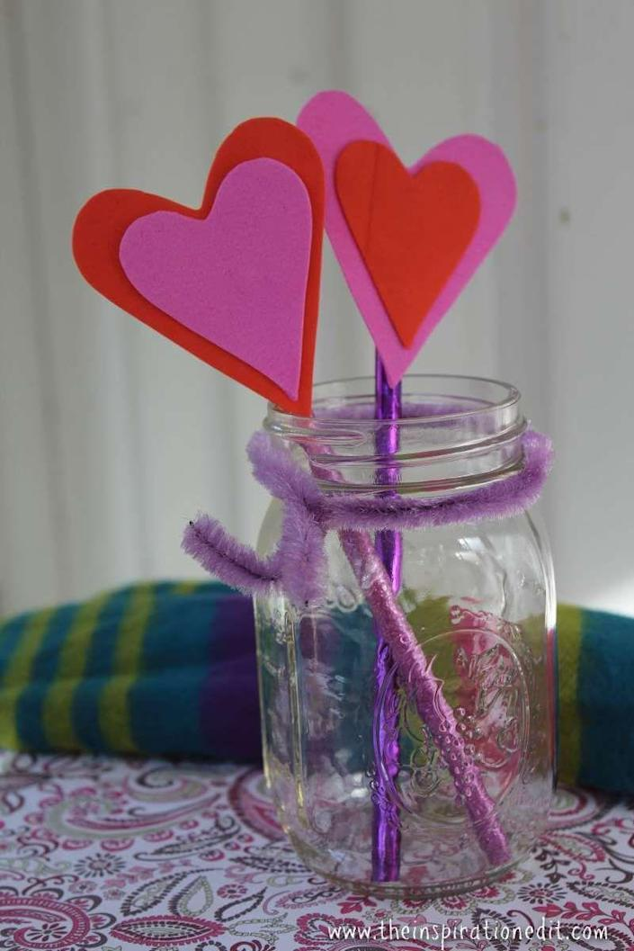 """<p>Writing Valentine's Day notes will be even more enjoyable thanks to these heart-topped pencils. </p><p><strong>Get the tutorial at <a href=""""https://www.theinspirationedit.com/heart-pencil-toppers-valentines-craft/"""" rel=""""nofollow noopener"""" target=""""_blank"""" data-ylk=""""slk:The Inspiration Edit"""" class=""""link rapid-noclick-resp"""">The Inspiration Edit</a>.</strong></p><p><strong><a class=""""link rapid-noclick-resp"""" href=""""https://www.amazon.com/Dozen-36-Valentines-Pencil-Assortment/dp/B00BU0Y46U?tag=syn-yahoo-20&ascsubtag=%5Bartid%7C10050.g.1584%5Bsrc%7Cyahoo-us"""" rel=""""nofollow noopener"""" target=""""_blank"""" data-ylk=""""slk:SHOP PENCILS"""">SHOP PENCILS</a><br></strong></p>"""