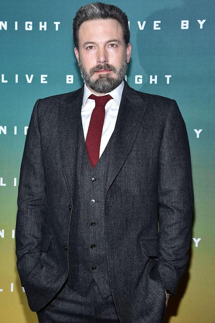 """<p>While the actor has continued to struggle with his alcohol addiction over the years, Affleck opened up earlier this year on his <a href=""""https://www.facebook.com/benaffleck/posts/1425085557565867"""" rel=""""nofollow noopener"""" target=""""_blank"""" data-ylk=""""slk:Facebook"""" class=""""link rapid-noclick-resp"""">Facebook</a> page in a post where he admits to completing treatment again in order to be the best father that he can be. The actor even brought a <a href=""""http://www.harpersbazaar.com/celebrity/latest/a21422/ben-affleck-took-a-sober-coach-to-oscars/"""" rel=""""nofollow noopener"""" target=""""_blank"""" data-ylk=""""slk:sober coach"""" class=""""link rapid-noclick-resp"""">sober coach</a> to the Oscar's this year for support. </p>"""