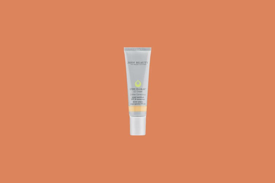 """<p>""""This complexion multitasker from Juice Beauty is the ultimate hydrating skin tint for the 'no makeup, makeup' lover,"""" says Riddle. """"It hydrates, evens out skin tone, and blurs imperfections.""""</p> <p><strong><em>Shop Now: </em></strong><em>Juice Beauty Cellular CC Cream</em><em>, $39, <a href=""""https://shareasale.com/r.cfm?b=1288499&u=1772040&m=60269&urllink=https%3A%2F%2Fcredobeauty.com%2Fproducts%2Fjuice-beauty-stem-cellular-cc-cream&afftrack=MSL13ExpertApprovedFoundationsforDrySkinrhaarsBeaGal7986001202009I"""" rel=""""nofollow noopener"""" target=""""_blank"""" data-ylk=""""slk:credobeauty.com"""" class=""""link rapid-noclick-resp"""">credobeauty.com</a></em><em>.</em></p>"""