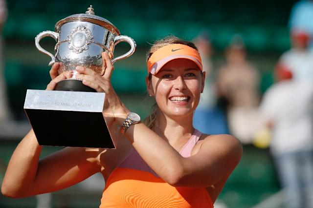 Maria Sharapova won her last Grand Slam title at the French Open in 2014 (AFP Photo/PATRICK KOVARIK)