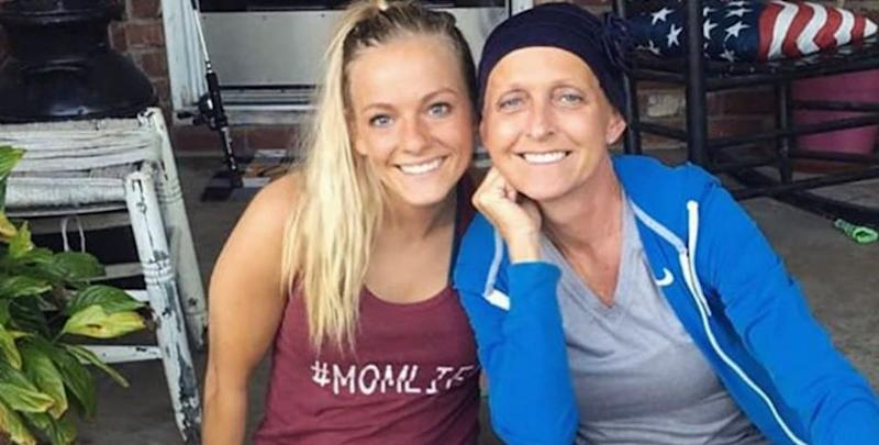 Mackenzie McKee poses with Angie Douthit
