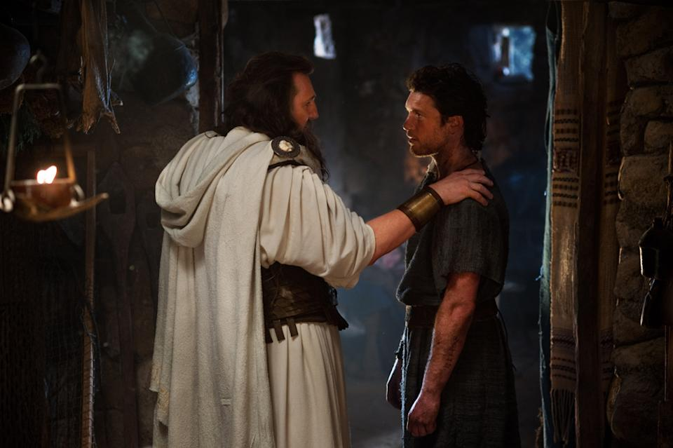 "Liam Neeson and Sam Worthington in Warner Bros. Pictures' <a href=""http://movies.yahoo.com/movie/wrath-of-the-titans/"" data-ylk=""slk:Wrath of the Titans"" class=""link rapid-noclick-resp"">Wrath of the Titans</a> - 2012"