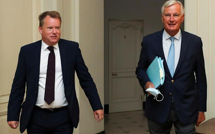 David Frost and Michel Barnier have failed to find a Brexit breakthrough after 14 days of intensive talks. - Reuters
