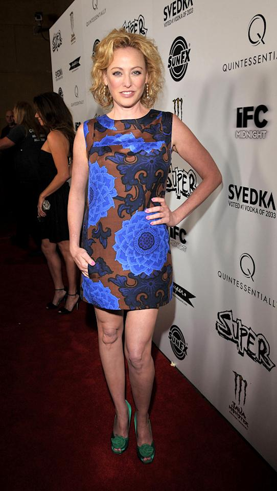 """<a href=""""http://movies.yahoo.com/movie/contributor/1800011462"""">Virginia Madsen</a> at the Los Angeles premiere of <a href=""""http://movies.yahoo.com/movie/1810167552/info"""">Super</a> on March 21, 2011."""