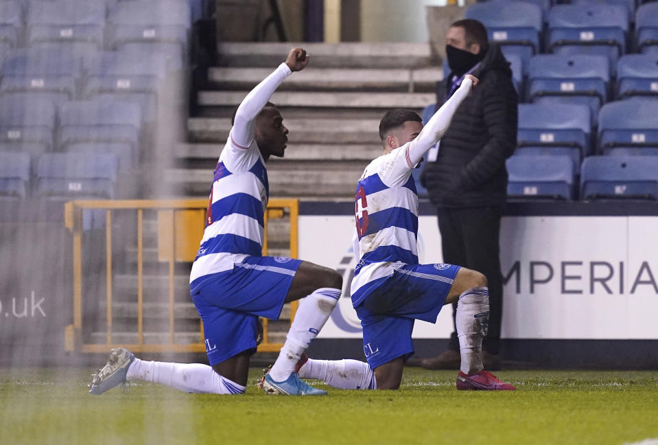 QPR's Ilias Chair, right, and teammate Bright Osayi-Samuel made quite the statement of their own at Millwall. (John Walton/PA via AP)