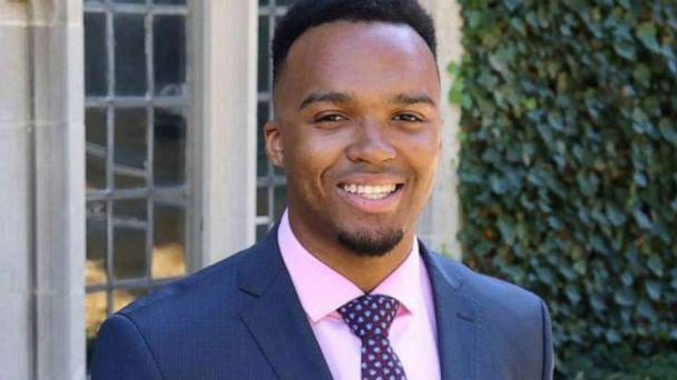 PHOTO: Nicholas Johnson, an operations research and financial engineering student from Montreal, Canada, has made history as Princeton University's first Black valedictorian. (Lisa Festa/Princeton Center for Career Development)