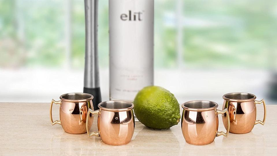 <p>Moscow mule fans will need these <span>Moscow Mule Shot Glasses (Set of 4)</span> ($17).</p>
