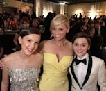 <p>Reese Witherspoon looked seriously chuffed to be posing with the kids.</p>