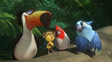 "A handout still from the 3D animated film ""Rio 2"", which will be released by 20th Century Fox in U.S. and Canadian theaters on April 11. REUTERS/Handout/20th Century Fox Film"