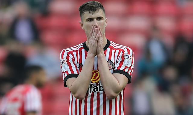 Paddy McNair shows his disappointment as Sunderland drop into League One.