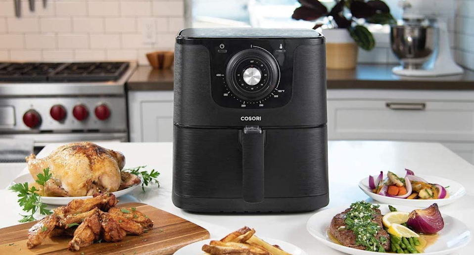 Save more than $60 on the Cosori XL Air Fryer. Image via Amazon.