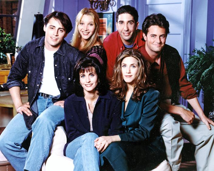 FRIENDS - US TV comedy series - see Description below for names of First Season cast (Alamy)