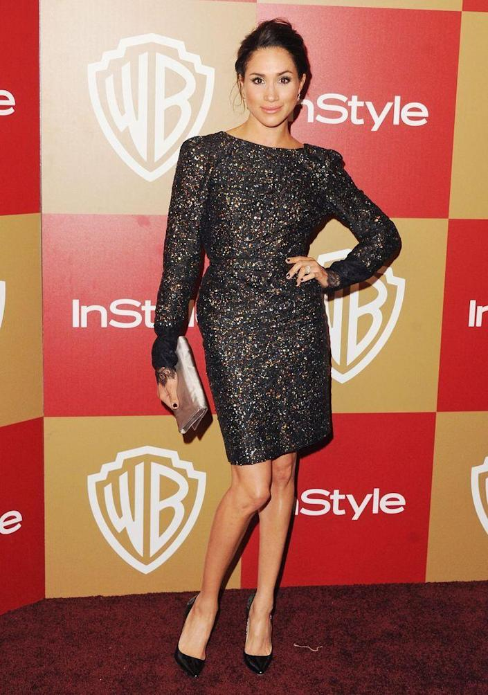 <p>At the Warner Bros. and InStyle Golden Globe after party in 2013. </p>
