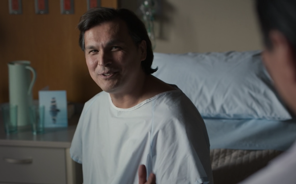 """<p>Actor <strong><a href=""""https://www.imdb.com/name/nm0063440/"""" rel=""""nofollow noopener"""" target=""""_blank"""" data-ylk=""""slk:Adam Beach"""" class=""""link rapid-noclick-resp"""">Adam Beach</a></strong> plays Billy Carr, an optimistic cancer patient. Even when his prognosis looks dire, he doesn't give up hope and, in the end, pulls through. Adam has starred in nearly 100 movies and shows throughout his impressive two-decade career.</p>"""