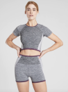 "<p><strong>Athleta</strong></p><p><strong>$19.99</strong></p><p><a href=""https://go.redirectingat.com?id=74968X1596630&url=https%3A%2F%2Fathleta.gap.com%2Fbrowse%2Fproduct.do%3Fpid%3D531209002%26vid%3D1%23pdp-page-content&sref=https%3A%2F%2Fwww.marieclaire.com%2Ffashion%2Fg33511317%2Fworkout-tops-for-women%2F"" rel=""nofollow noopener"" target=""_blank"" data-ylk=""slk:SHOP IT"" class=""link rapid-noclick-resp"">SHOP IT</a></p><p>This compression top is suitable for medium to high impact workouts, so don't be afraid to test drive the piece on your running days and biking days. It's made from recycled nylon and has a thicker fabric, if you dislike thin workout tops. </p>"