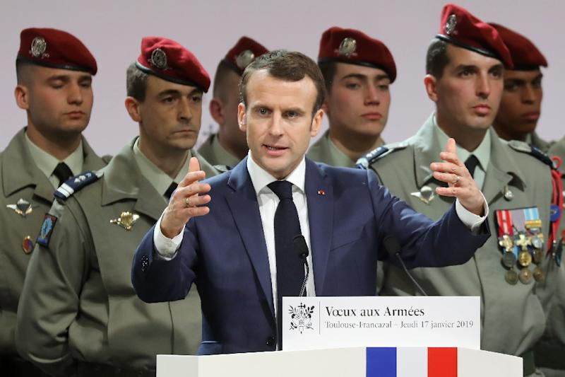 "French President Emmanuel Macron said Thursday that ""the fight is not over"" in the Middle East"