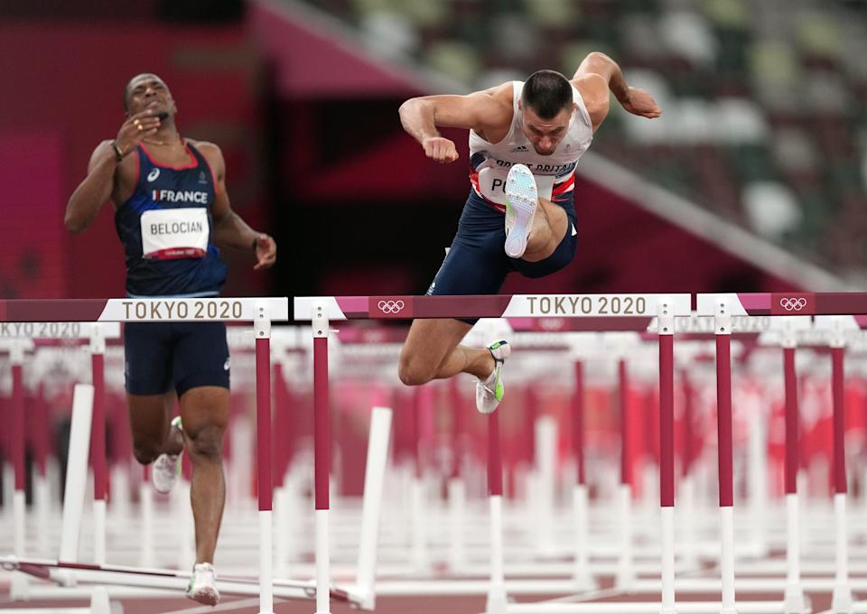 Pozzi is in the 110m hurdles final at the Olympics for the first time in his career. (Martin Rickett/PA) (PA Wire)